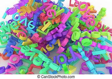 cgi, weergeven, love., woord, &, abstract, behang, typografie, grafisch, kunstwerk, digitale , bos, design., creativity., stijl