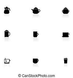 chá, ícones