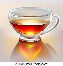 chá, amor, copo