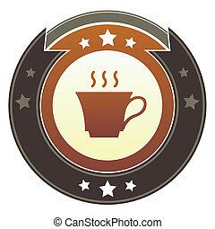 chá, botão, imperial, café, ou