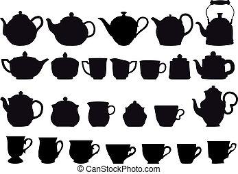 chá, coffe