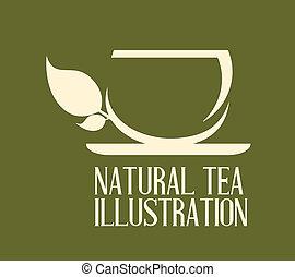 chá, desenho