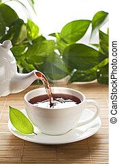 chá, quentes