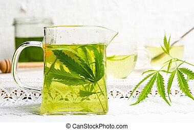 chá sai, limão, marijuana, cannabis