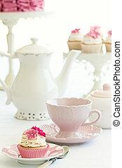 chá, tarde