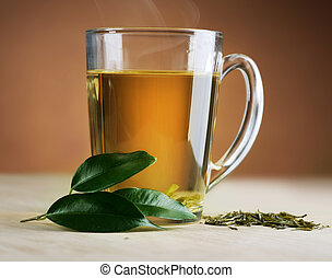 chá, verde