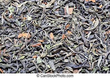 chá, verde, fotografado