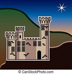 château, étoile