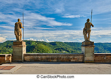 château, allemagne, hohenzollern