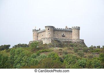 château, ancien, espagnol