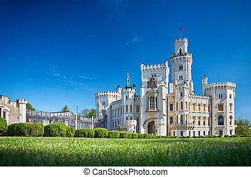 château, bohémien, vltavou, nad, hluboka