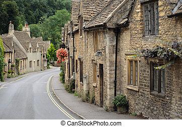 château, cotswolds, combe, petites maisons