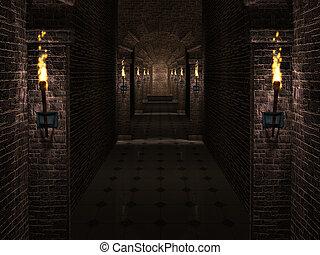 château, couloir