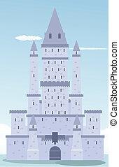 château, dessin animé