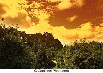 château edimbourg, ecosse