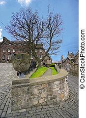 château edimbourg, moyen-âge, architecture