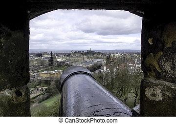 château edimbourg, -, panorama, vue