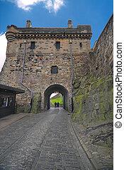 château edimbourg, portcullis, portail