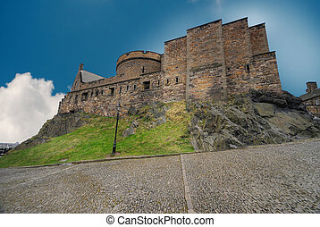 château edimbourg, royaume-uni, ecosse