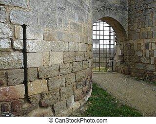 château, entrée, france