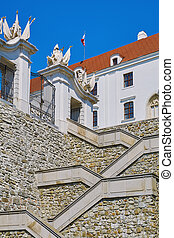 château, escalier