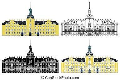 château, germany., buckeburg