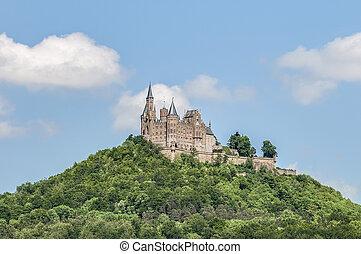 château, hohenzollern, allemagne, baden-wurttemberg