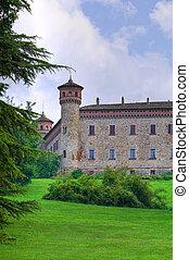 château, italy., emilia-romagna., rezzanello.