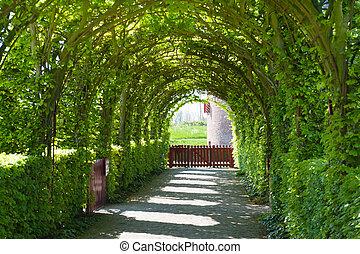 château, jardin