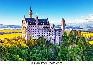 château neuschwanstein, bavière, allemagne