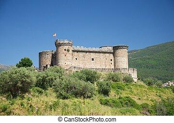 château, paysage, espagnol