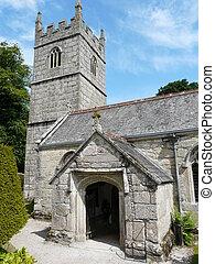 château, raisons, lanhydrock, église