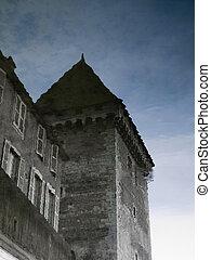 château, reflet