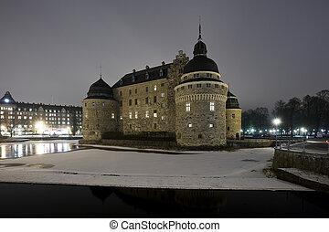 château, temps nuit