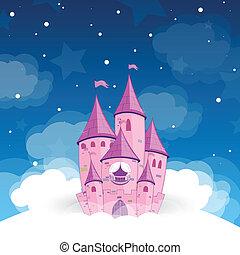 château, vecteur, princesse