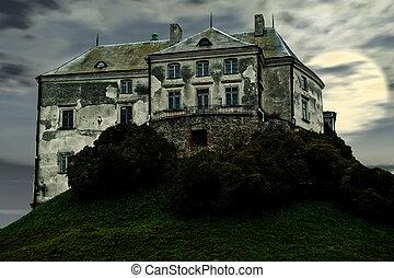 château, vieux, terrible