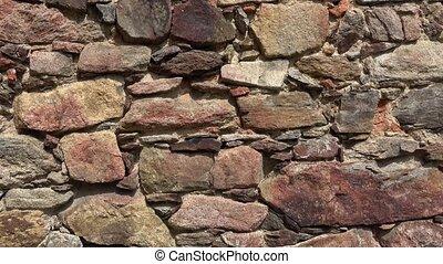château, wall., mur, pierre, vieux, arrière-plan., texture