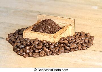 chão, café, e, feijão café