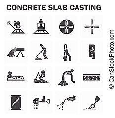 chão concreto, ícones