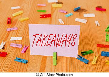 chão, texto, takeaways., lembrete, ou, vazio, conceito,...