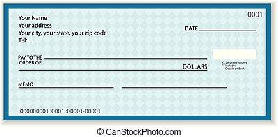 chèque, banque