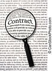 chèque, contrat