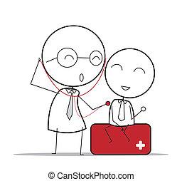 chèque, docteur