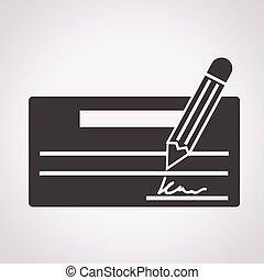 chèque, icône