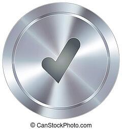 chèque, industriel, marque, bouton