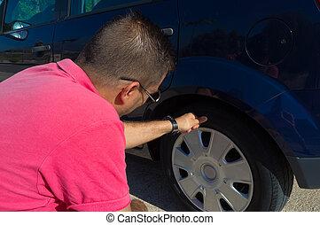 chèque, pneu