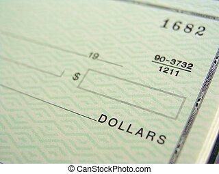 chèque, vide