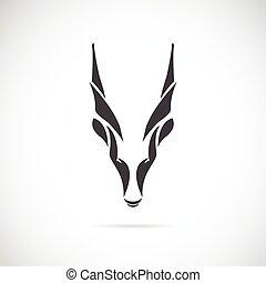 chèvre, tête, vecteur, image, (goral)