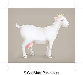 chèvre, vecteur, icône