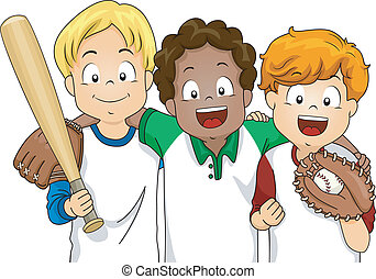 chłopcy, baseball
